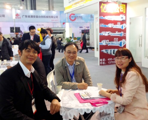 Flexo Concepts - Asian Sales Manager Steve Kao with SUNAICHI Chamber - President Mr. Kim and Sales Manager Ms. Aihong Lu