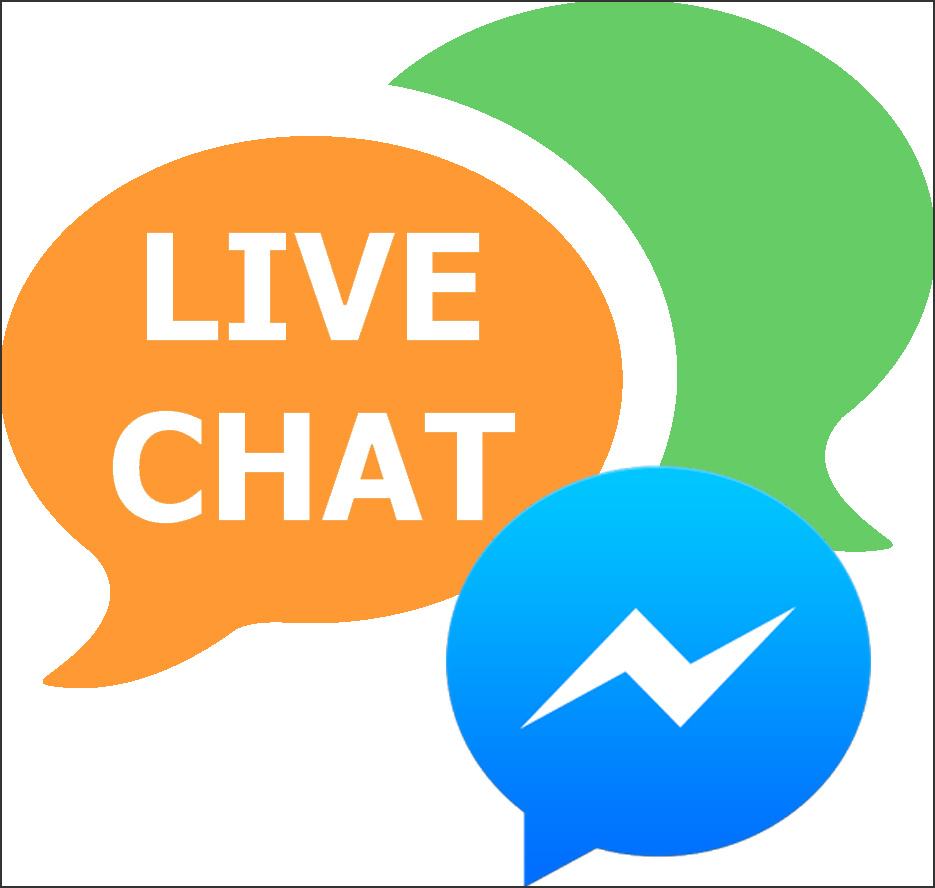 image Live chat on messenger